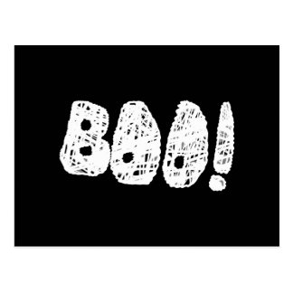 BOO! White and Black Letters. Postcard