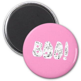 BOO! White and Black Letters. Refrigerator Magnet