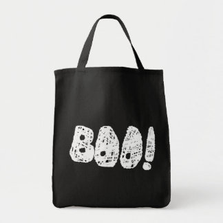 BOO! White and Black Letters. Tote Bag