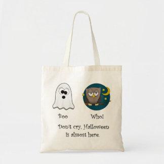 Boo Who Dark Owl Tote Bags