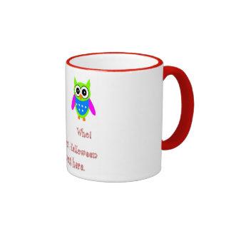 Boo Who Green Owl Glow Letters Mug