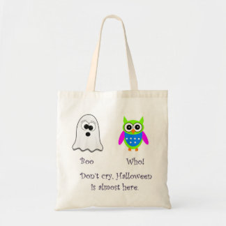 Boo Who Green Owl Tote Bag