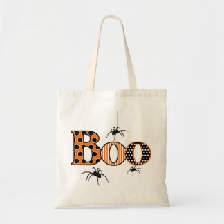 BOO with Spiders Halloween Budget Tote Bag