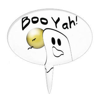 Boo Yah Ghost Gifts Oval Cake Picks