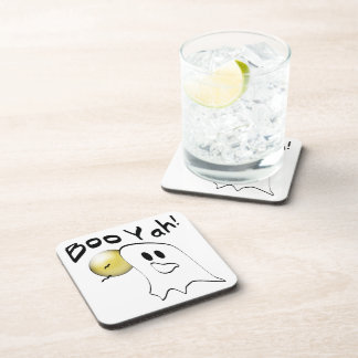Boo Yah Ghost Gifts Beverage Coaster