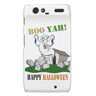 Boo Yah! Happy Halloween Droid Phone Razr Case Motorola Droid RAZR Cover