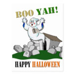 Boo Yah! Happy Halloween Postcard
