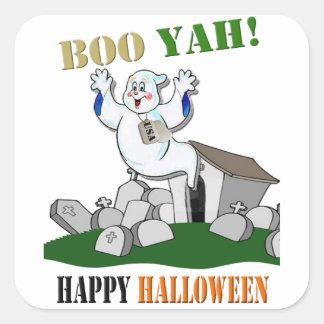 Boo Yah! Happy Halloween Stickers