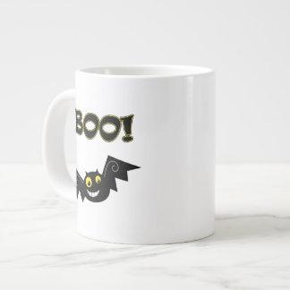 BOO! Yellow Eyes Giant Coffee Mug