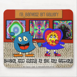 Boober and Sunny at the art gallery Mouse Mat