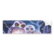Boobook Owl Family Bumper Sticker