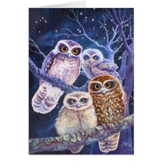 Boobook Owl Family Card