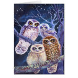 Boobook Owl Family Greeting Card