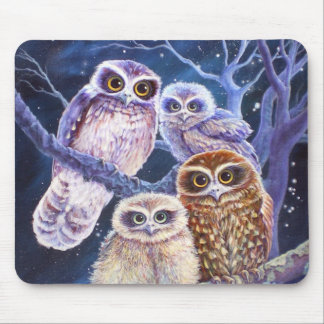 Boobook Owl Family Mouse Pad