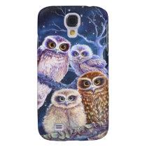 Boobook Owl Family Samsung Galaxy S4 Cover