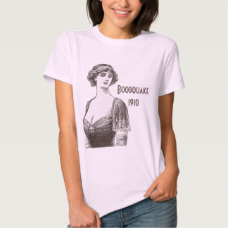 Boobquake 1910 - Beautiful Vintage Cleavage Lady T-shirt