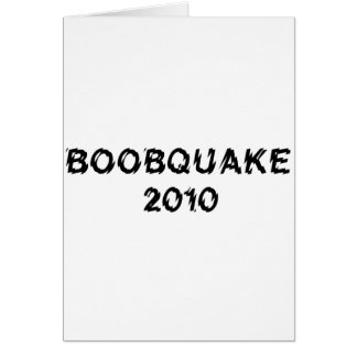 BOOBQUAKE 2010 products Cards