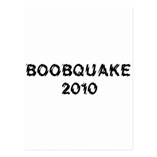 BOOBQUAKE 2010 products Postcard
