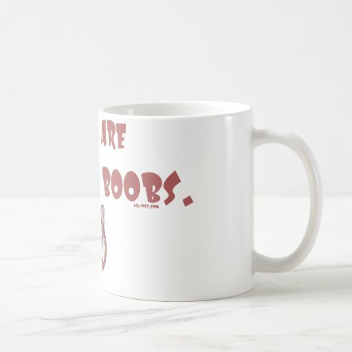 Boobs de trabajo taza de café