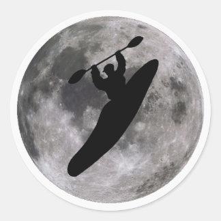 boof lunar del kajak pegatinas redondas