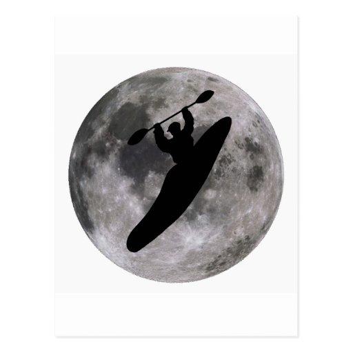 boof lunar del kajak tarjeta postal