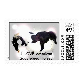 BOOFRONTPIC, I  LOVE  American Saddlebred Horses! Postage Stamp