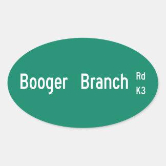 Booger Branch Rd, Street Sign, South Carolina, US Oval Sticker