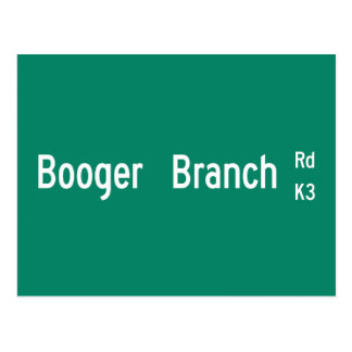 Booger Branch Rd, Street Sign, South Carolina, US Postcard