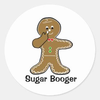 Booger del azúcar pegatina redonda