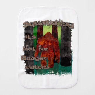 Booger eaters baby burp cloth