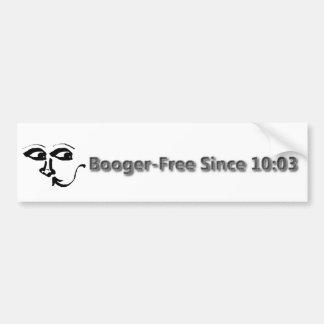 Booger Free Since 10:03 Nose Bumper Sticker! Bumper Sticker