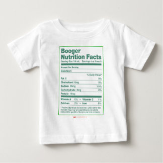 Booger Nutrition Facts Baby T-Shirt