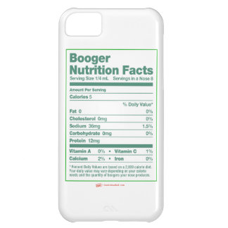 Booger Nutrition Facts iPhone Case Case For iPhone 5C