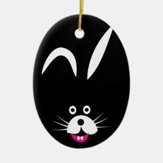 Boogey Bunny Ceramic Ornament