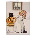 Boogeyman (tarjeta de Halloween del vintage)