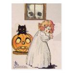 Boogeyman (tarjeta de Halloween del vintage) Tarjeta Postal