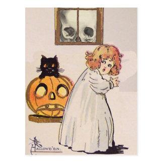 Boogeyman tarjeta de Halloween del vintage