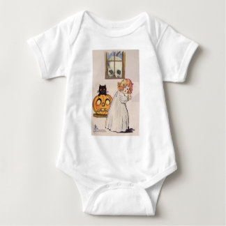 Boogeyman (Vintage Halloween Card) Baby Bodysuit