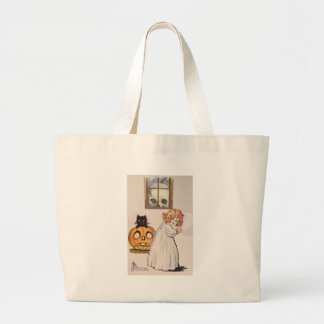 Boogeyman (Vintage Halloween Card) Large Tote Bag