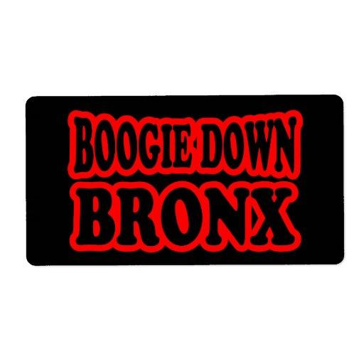 Boogie abajo Bronx Etiquetas De Envío