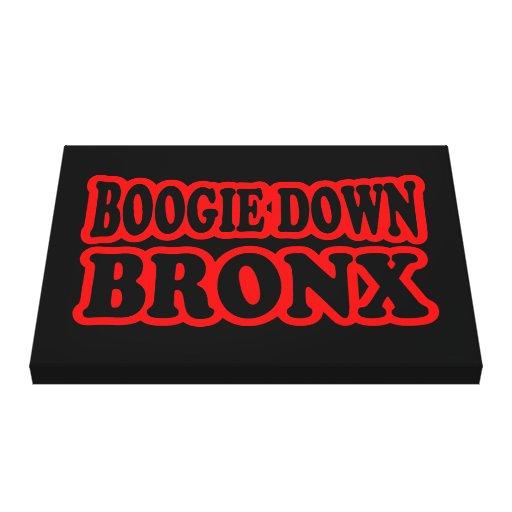 Boogie abajo Bronx Impresion En Lona