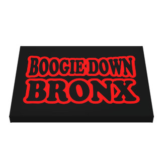 Boogie abajo Bronx, NYC Impresión En Tela