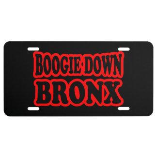 Boogie abajo Bronx, NYC Placa De Matrícula