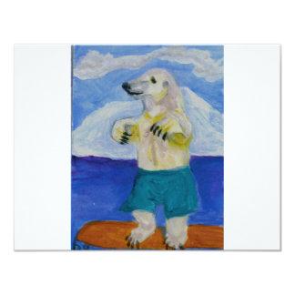Boogie Board Bear Custom Invitations