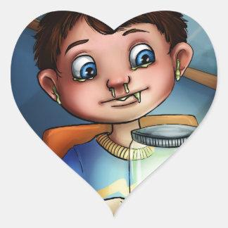 Boogie Boy Heart Sticker