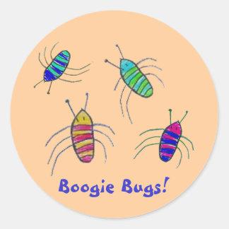 Boogie Bugs! Round Sticker