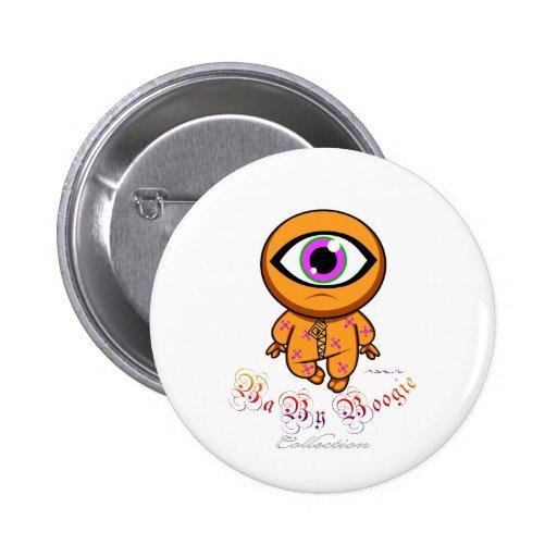 Boogie del bebé - Cyclop anaranjado Pin