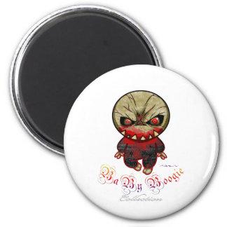 Boogie del bebé - punto del monstruo imán redondo 5 cm