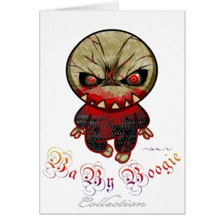 Boogie del bebé - punto del monstruo tarjeta de felicitación