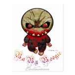 Boogie del bebé - punto del monstruo tarjeta postal